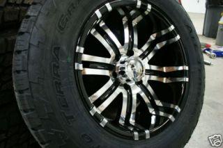 295 70 18 Toyota Tundra 5x150 Black Wheels Nitto Terra