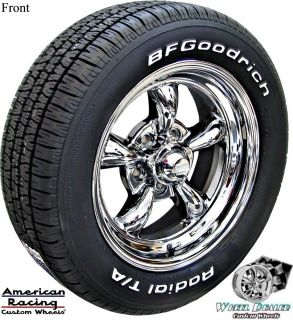 AMERICAN RACING TQ THRUST WHEELS 205 225 60 BFG TIRES CHEVY NOVA 1965