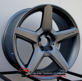 Style Matte Gunmetal Wheels Rims Fit Mercedes C230 C240 C280