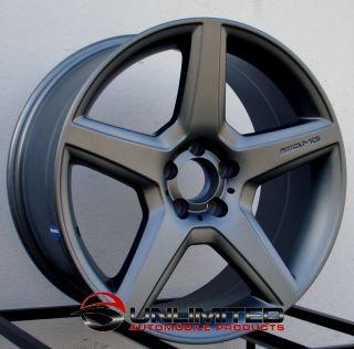 Style Matte Gunmetal Wheels Rims Fit Mercedes C230 C240 C280