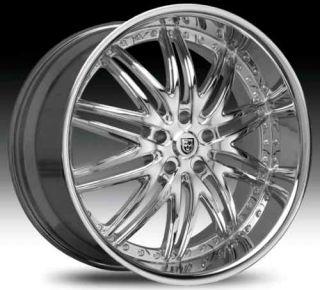 Staggered Wheel Set Chrome Rims for 5LUG 22x10 22x9 Lexani Set