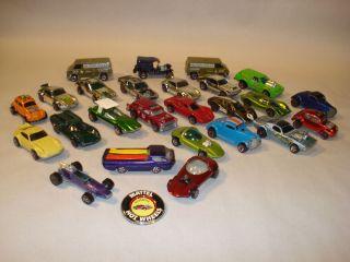 Vintage 25 Mattel Hot Wheels Redline Toy Cars Misc Assortment Lot