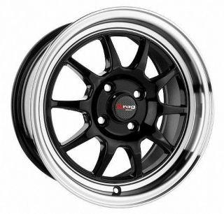 15 4x100 DR16 Black Wheel Rim Acura Integra CRX Daewoo