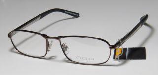 17 140 Brown Gunmetal Spring Hinges Half Rim Eyeglasses Frames