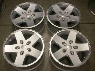 17 Jeep Wrangler Rubicon Factory Silver Wheels Rims 4