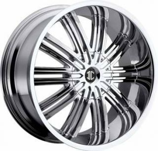 2CRAVE No7 22x9 5 5x115 5x120 ET15 Chrome Wheel 1 New Rim