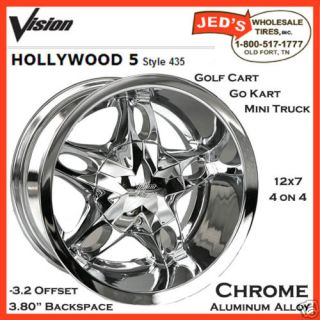12 Chromed Aluminum Golf Rims Wheels 12x7 4x4 4x100