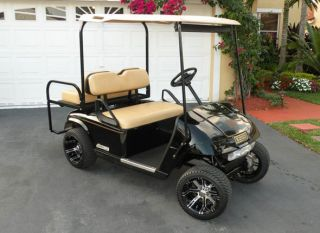 225 35 12 EFX Lo Pro Nonlifted Golf Cart Tires w 12x7 Aggressor