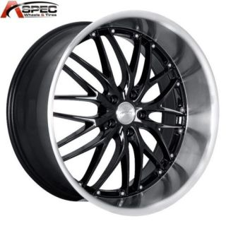 MRR GT1 19x8 5 5x100 35 Black Machined Rims Wheels