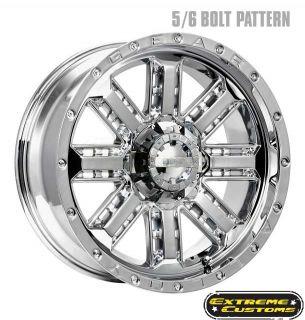 Gear Alloy 723C Nitro Chrome 5 6 8 Lugs Wheels Rims Free Lugs