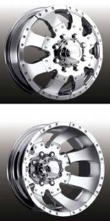 Ultra Type 023 Dually Wheels 17x6 5 Chr 8x6 5 4 Wheels Caps and Lugs