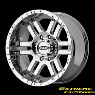 20 x10 Moto Metal MO951 Chrome 5 6 8 Lug One Single Wheel Rim