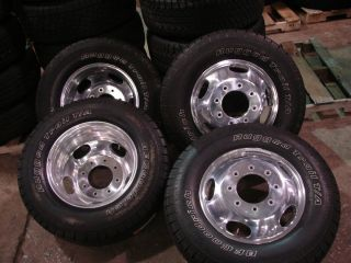 Set 17 Ford F 350 Factory Dually Wheels Rims BFG Tires
