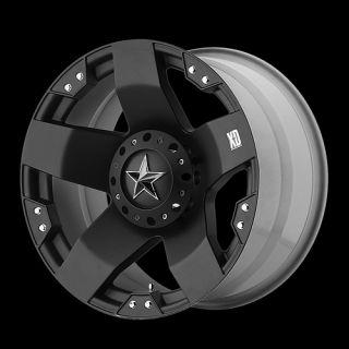 XD ROCKSTAR MATTE BLACK RIMS WITH 285 50 20 SUNNY SN3980 TIRES WHEELS