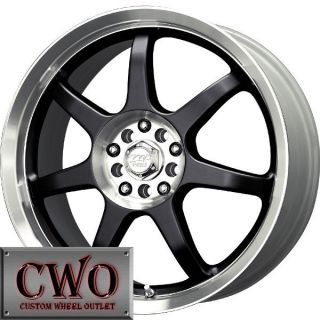 15 Black MB Seven X Wheels Rims 5x100 5x114 3 5 Lug Eclipse Altima