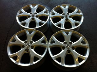 MAZDA 3 07 08 09 17 4 FOUR OEM FACTORY ALLOY RIM WHEELS 64895 Y SPOKE