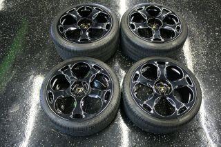 Lamborghini Wheels Tires Black 295 30 2R19 5 Lug