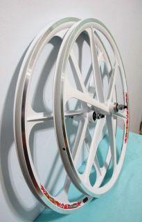 Alloy White 700c Fixed Gear Single Speed Fixie Bike Rims F R