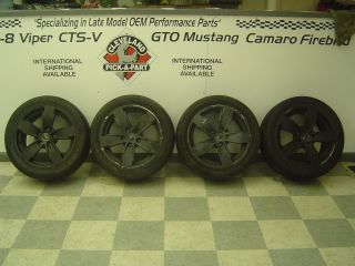 04 06 GTO OEM Complete Set Wheels Rims Tires 17x8 BLACK Painted Finish