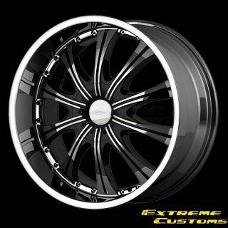 x8 5 DIAMO DI030 Black Machined 5 6 Lugs Wheels Rims Free Lugs