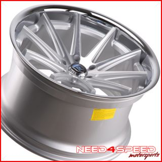 335i Sedan Rohana RC10 Concave Silver Staggered Wheels Rims