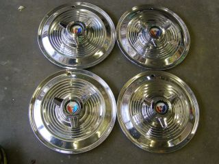 OEM 1964 Ford Galaxie 500 XL 427ci 15 Wheel Covers Spinner Hub Caps