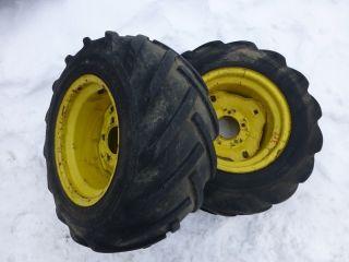 John Deere 317 Tractor Good Year 23x10 50 12 Rear Tires Rims bar lug