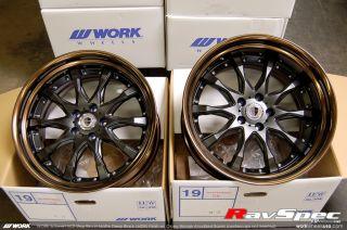 Work Schwert SC2 19 JDM Wheels with Bronze Step Lip and Black Face