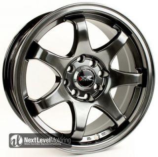 4x100 4x114 3 25 Chromium Black Wheels Rims Civic Integra Yaris