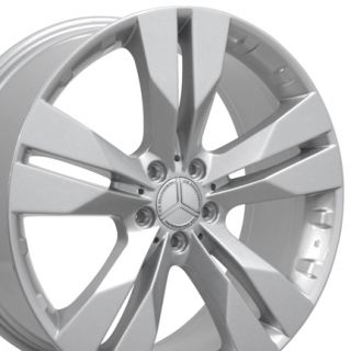 Silver Wheels Set of 4 Rims Fits Mercedes Benz 550 450 350