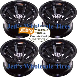 14x8 4 4 2 6 Golf Cart Rims Wheels Fits EZ Go Club Car Yamaha Bad