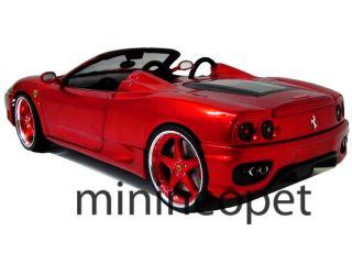 Hot Wheels Whips Custom Ferrari 360 Spider 1 18 Diecast Red Chrome