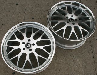 Koko Kuture Fann L7 22 Silver Rims Wheels GS300 GS400 22 x 9 0 10 5