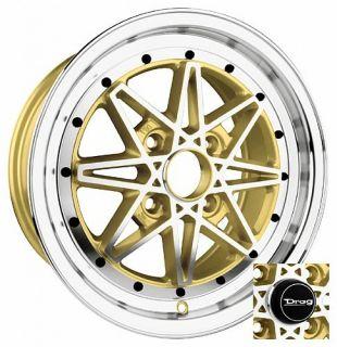16 4x100 DR20 Gold Wheel Rims Honda Prelude Del Sol CRX