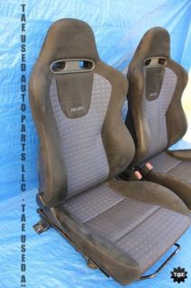 03 04 05 Mitsubishi Lancer Evolution 8 Mr GSR Recaro Front Seats evo8