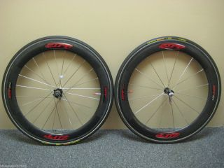 2000 Zipp 404 650c Carbon Wheelset Tubular Rims and Tufo Elite Jet