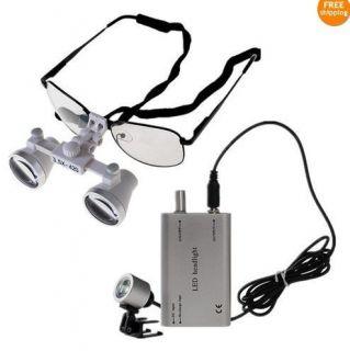 New 3 5 x Dental Loupes Dentist Optical Glasses 420mm LED Head Light