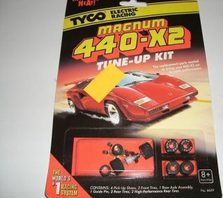 Tyco Magnum 440 X2 Slot Car Tune Up Kit Shoes Tires Axle TYC36669