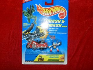 Sonic The Hedgehog Hot Wheels RARE Crash and Smash Bikes