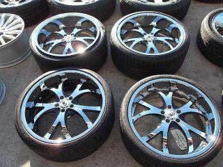 21 asanti Wheels Tires Rims Bentley Continental Mercedes S550 CL550