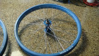 NOS blue ACS Z Rims with sealed Bullseye Hubs old school BMX PK Ripper
