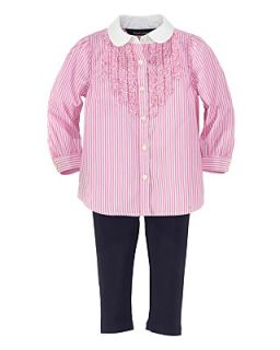 Ralph Lauren Childrenswear Infant Girls Ruffle Tunic & Legging Set