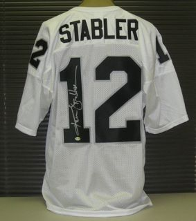 770 592 6399 this russell jersey was hand signed by ken stabler