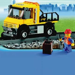 Lego City Red Cargo Train Yellow Repair Service Truck Car Vehicle from