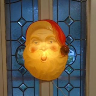 Vintage Christmas Santa Head Face Light