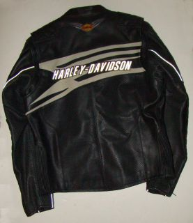 Harley Davidson Mens Black Leather Riding Jacket Gift Ready NIB