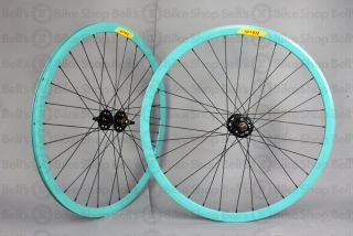 Velocity Deep V Track Wheels Celeste Bianchi Fixed Gear