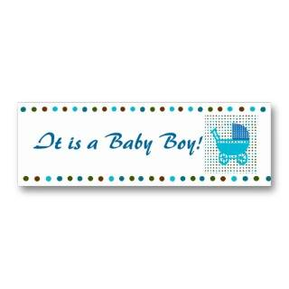 Baby Boy Birth Announcement Minicard Business Card