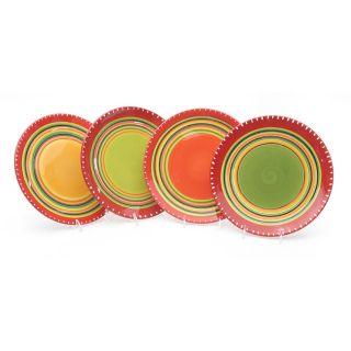 Certified International Hot Tamale Salad Plates (set Of 4)