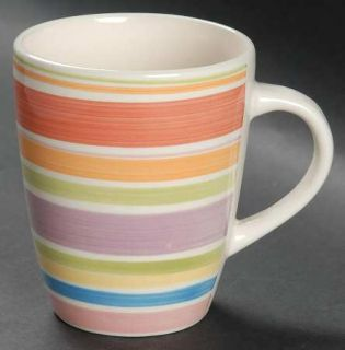 Gibson Designs Rosita Rainbow Mug, Fine China Dinnerware   Multicolor Bands On W